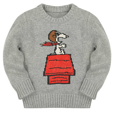 NEW Baby Gap Toddler Peanuts Snoopy Dog House Pullover Sweater Size 2T