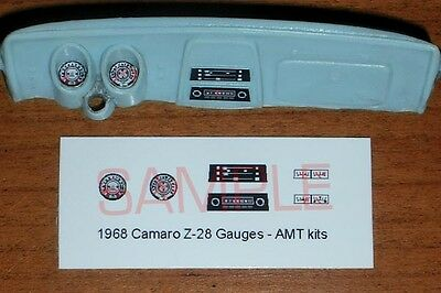 1968 CAMARO Z28 GAUGE FACES! - for 1/25 scale AMT KITS