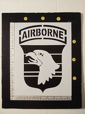 """101st Airborne Division Patch #2 8.5"""" x 11"""" Custom Stencil FAST FREE SHIPPING"""