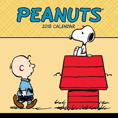 Peanuts 2018 Square Wall Calendar by Andrews McMeel, includes FREE POSTAGE