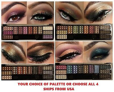 12 Colors Glitter Eyeshadow Eye Shadow Palette & Makeup Cosmetic Brush Set NEW