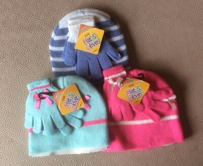 Childrens Hat and Gloves set