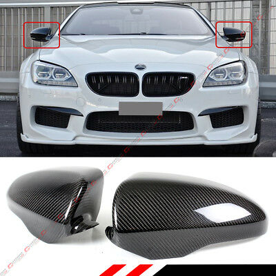 FOR 2012-18 TESLA MODEL S DIRECT ADD-ON REAL CARBON FIBER SIDE MIRROR COVERS CAP