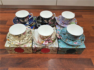Maxwell Williams Cashmere Kilburn Cup and Saucer Set of Six Assorted Design GB