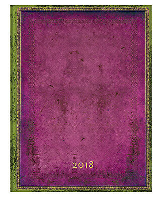 2018 Diary Paperblanks Byzantium Ultra Vertical Week to View Elastic Band