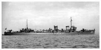 WWII Imperial Japanese Navy Destroyer Mikazuki 8 x 16 Silver Halide Photo
