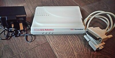 3Com U.S. Robotics 56K Faxmodem with Original Power Lead & Manual