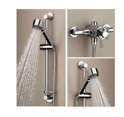 Bristan RIO 2 Exposed Thermostatic Mixer Shower DUAL CONTROL + Kit 110mm 130mm