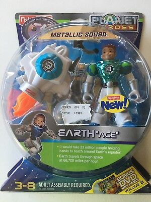 Fisher Price Planet Heroes Earth Ace Metallic Squad Figure (NEW)