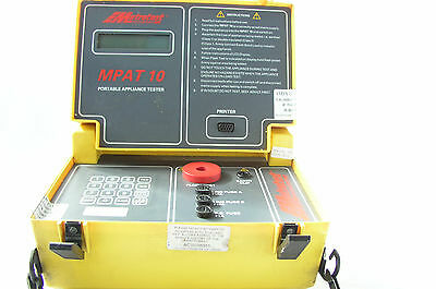 Metrotest M Pat 10 Tester with calibration stickers still intact  110V