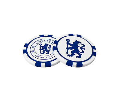 Chelsea  Poker Chip Golf Ball Markers (Pack Of 2) - Official Licensed Product