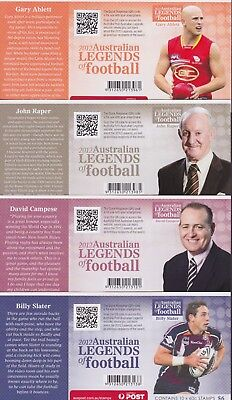 Australia Stamps Legends of Football Set 8 Booklets Unfolded 2012