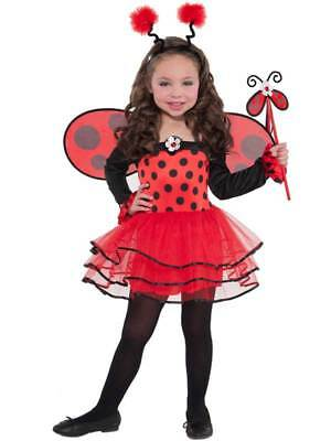 Child Lady Bird Ballerina Bug Costume Girls Insect Fancy Dress Outfit Age 3-6