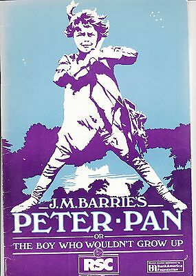 1983 Barbican Theatre Programme - MARK RYLANCE plays PETER PAN