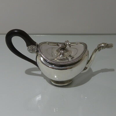 19th Century Antique Silver Teapot Circa 1830 Brussels?