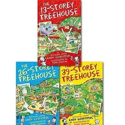 The 13-Storey Treehouse Collection 3 Books Set, Andy Griffiths & Terry Denton PB