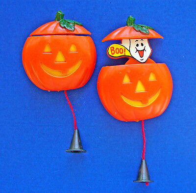 BUY1&GET1@50%~Fun World PIN Halloween PULL STRING GHOST JOL PUMPKIN Pop Up Vtg