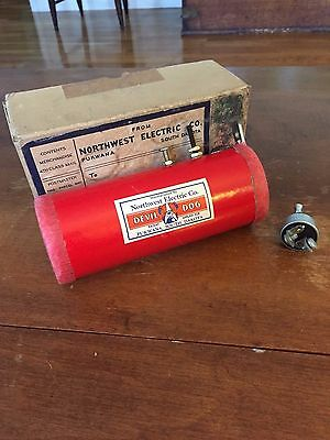 "VINTAGE ""DEVIL DOG"" CAR ALARM-HORN, Never used w/box, by Northwest Electric Co."