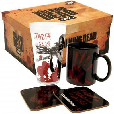 The Walking Dead Gift Set Mug Glass Coaster Fan Gift Official Licensed Product