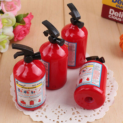 2 Pcs/Set Fire Extinguisher Modelling Stationery Student School Pencil Sharpener