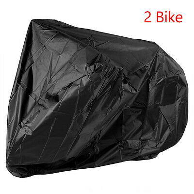 For 2-Bikes Bicycle Waterproof Cover Outdoor Rain Snow Sun Dust  Resistant
