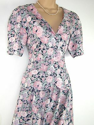 Laura Ashley Vintage Wild Summer Flowers Skirt & Blouse Set,suit - Small / 10