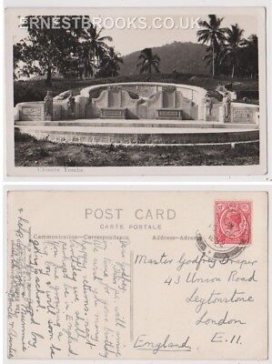 Early Postcard, Malaysia, Penang,  Chinese Tombs, Nice View, RP 1932