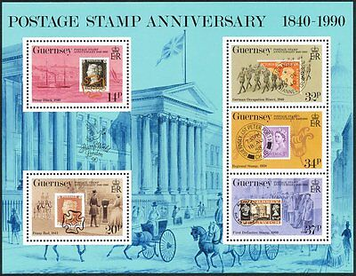 Great Britain Guernsey, MNH Collection of Sheets, Strips and a SS. See Descript.