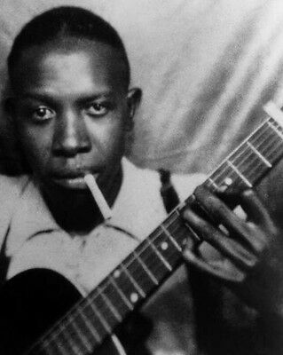 American Blues Singer ROBERT JOHNSON Glossy 8x10 Photo Musician Poster Print