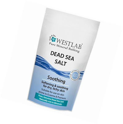 Westlab Dead Sea Salt Stand Up Resealable Pouch for Dry Itchy Skin Healing 1Kg