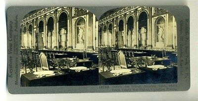 Keystone Stereoview Galerie des Glaces Versailles Peace Treaty Table