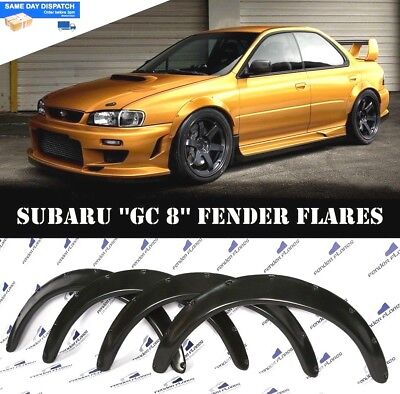 Subaru Impreza WRX 92-00 Fender Flares Wheel Arches Extensions Wide Body 4  PCS