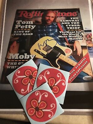 Tom Petty Heartbreakers Wildflowers Round Sticker Like On His Fender Guitar 40th