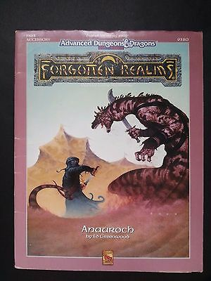 "FORGOTTEN REALMS "" ANAURCH "" AD&D 2nd Complete with MAP FR13 #9320 1991 TSR VNC"