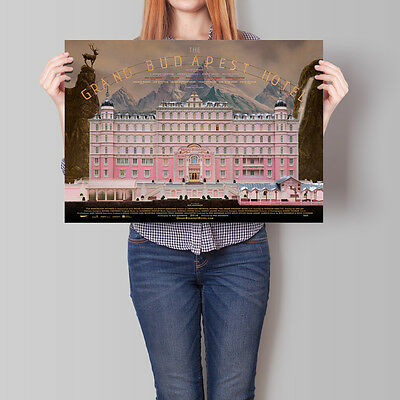The Grand Budapest Hotel Movie Poster Wes Anderson Film 16.6 x 23.4 in (A2)