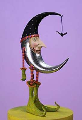 Patience Brewster Halloween Bat Moon Figure 08-30907