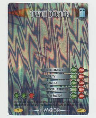 Light Storm Tenth Doctor - SUPER RARE Doctor Who Battles in Time Card
