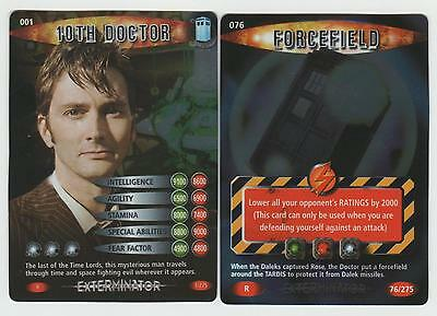 10th Doctor & Forcefield - RARE Doctor Who Battles in Time Cards