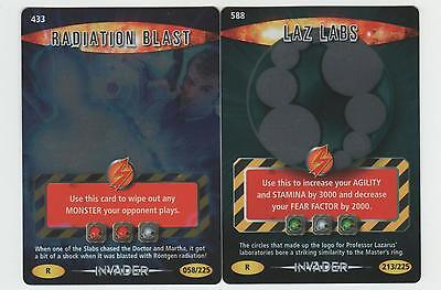 Radiation Blast & Laz Labs - RARE Invader Doctor Who Battles in Time Cards
