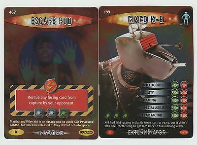 Escape Pod & Fixed K-9 - RARE Doctor Who Battles in Time Cards
