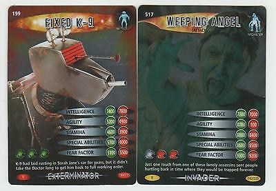 Fixed K-9 & Weeping Angel (Attacking) - RARE Doctor Who Battles in Time Cards