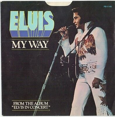 Elvis Presley:  My Way / America (US sleeve, no record)