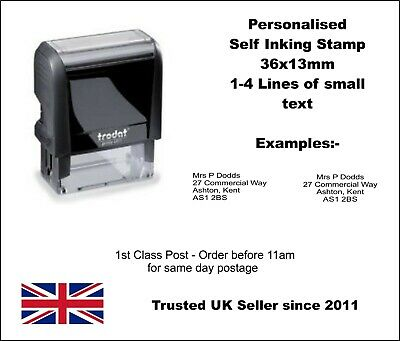 Personalised Self Ink Rubber Stamp Business Address NHS Doctor Nurse Hospital