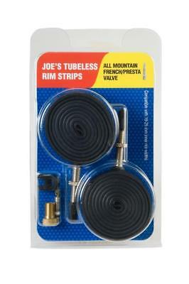 JOE'S NO-FLATS 2 TUBELESS RIM STRIP VALVOLA PRESTA ALL MOUNTAIN mtb 26 27,5 29