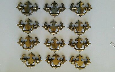 Set Of 12 Matching Old Vintage Used 2 1/2 Inch Center To Center Drawer Pulls