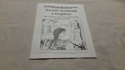 Advanced D&DTrouble Troublant a Tragidore FRENCH VERSION  BOOK ONLY