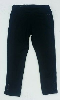 Womem's NIKE Dry Fit Black Running Athletic Yoga Pants size XS Pocket X-small