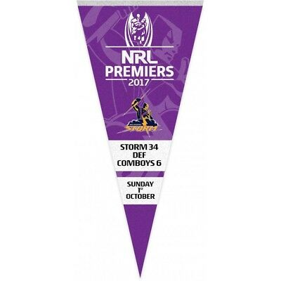 Melbourne Storm 2017 NRL Premiers Wall Pennant! In Stock!