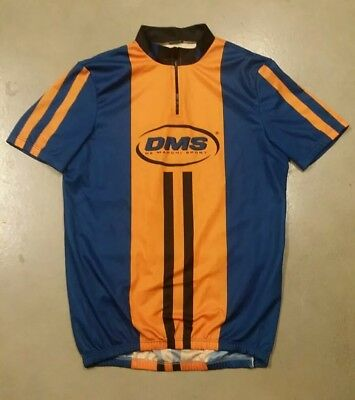 Mens De Marchi Cycling Jersey Bicycle Short Sleeve 1 4 Zip Size Large Blue  Bike c0bbf7f04