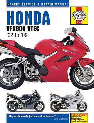 Honda VFR800 V-Tec 2002-2009 Haynes Manual 4196 NEW ED.